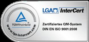 Zertifiziertes QM-System DIN EN ISO 9001:2008